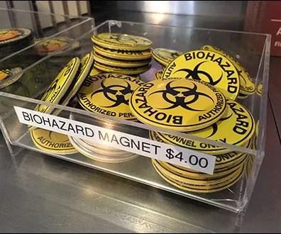 Biohazard Bulk Bin in Clear Acrylic