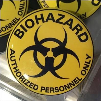 Biohazard Acrylic Bulk Bin Feature