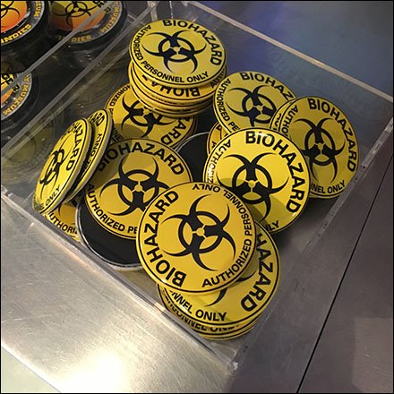 Biohazard Bulk Bin in Clear Acrylic