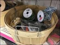 Birch Baskets as Bulk Bins for Crafts