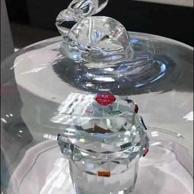 Cut Crystal Cupcake In Bell Jar