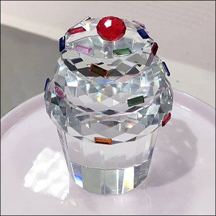 Cut Crystal Cupcake Merchandising
