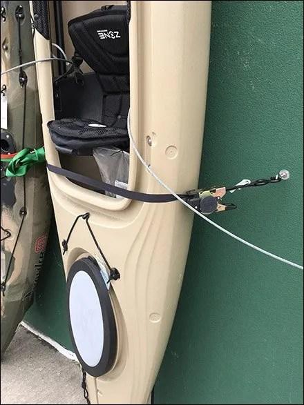 Vertical Outdoor Kayak Display With Anti-Theft