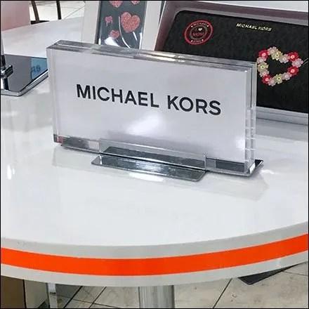 Michael Kors Pin Stripe Visual Merchandising