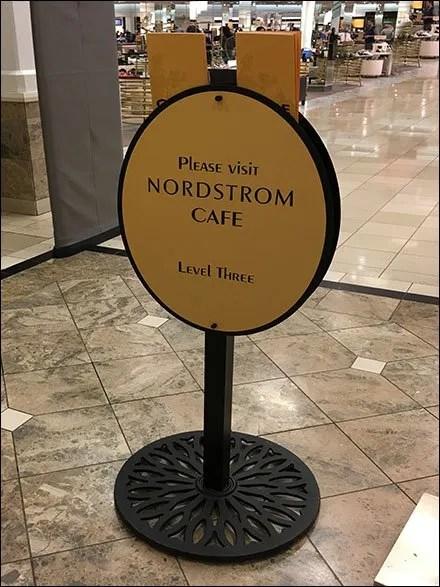 Nordstrom Cafe Navigation With Menus
