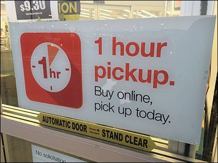 Online Shopping One-Hour Pickup Promise