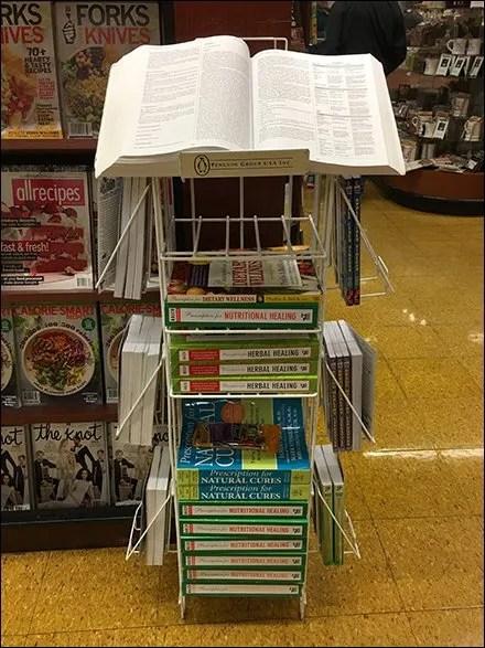 Book Store Fixtures and Merchandising - Penguin Book Reading Stand Display Rack