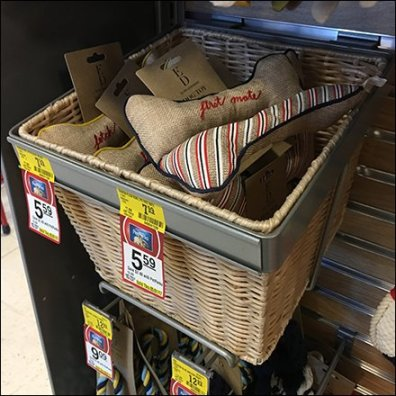 Small Wicker Basket Slatwall Merchandising