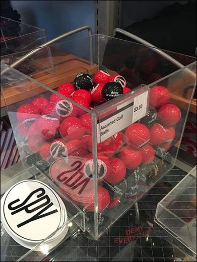 Acrylic Golf Ball Bulk Bin At Spy Museum
