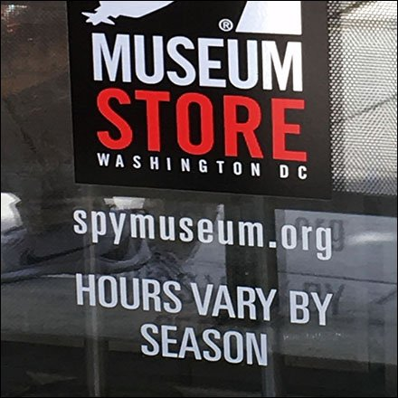 Spy Museum Store Hours Vary By Season Feature