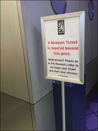 Spy Museum Ticket Required Beyond This Point 2
