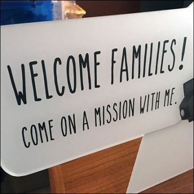 Family Friendly Welcome Sign With A Mission