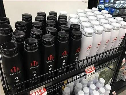 Uptime Energy Drink Branded Black and White