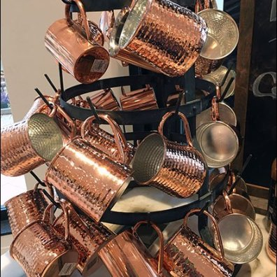 William Sonoma Copper Cup Spinner Rack