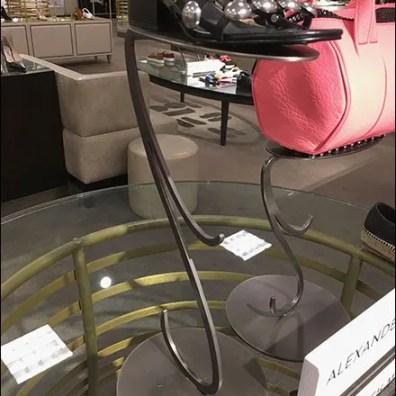 Alexander Wang Curlycue Metal Pedestal