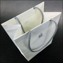 Apple Branded Shopping Bag