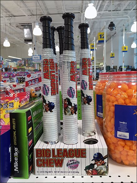 Big League Gumball Baseball Bat Packaging