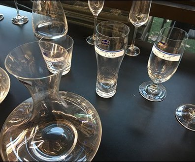 Bohemian Crystal Glassware Sales in Grocery