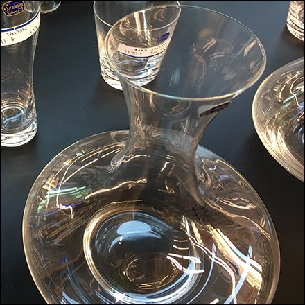 Bohemian Crystal Glassware Sales in Grocery