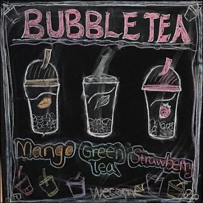 Bubble Tea A-Frame Easel Chalkboard Sign