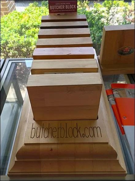 Laser-Etched Butcher Block Showroom Sampler