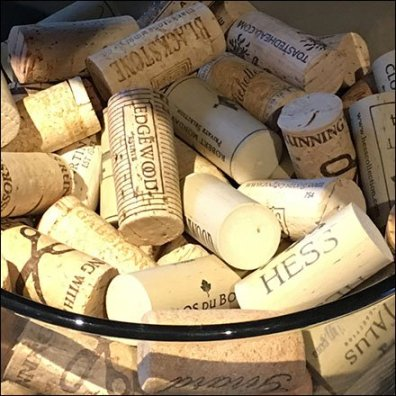Cork Collection As Visual Merchandising Prop