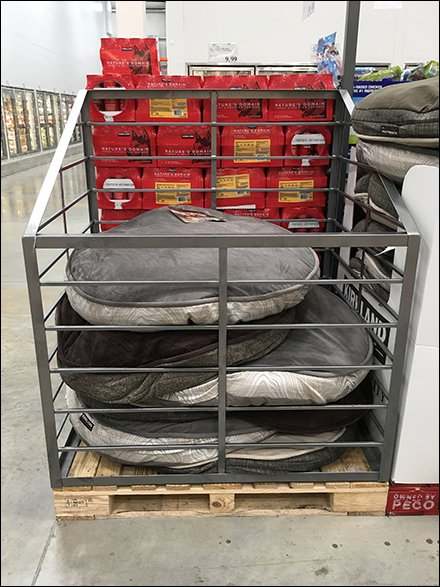 dog bed bulk bin at costco warehouse clun
