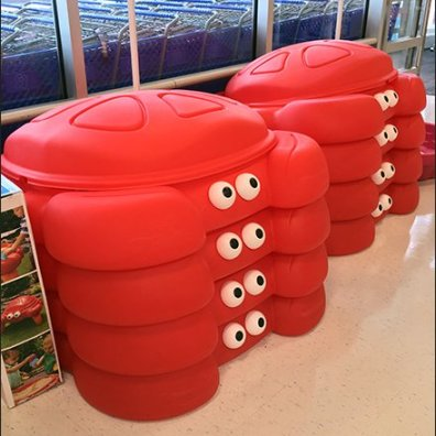 Crabby Sandboxes Stare Down Customers