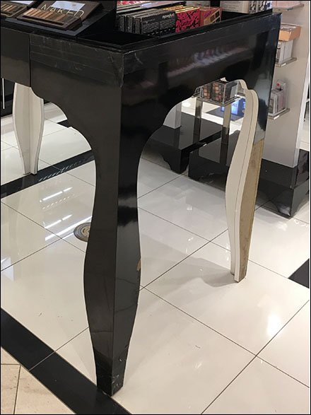 Curvaceous Cosmetics Table Legs Naked