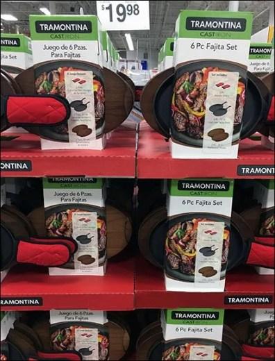 Fajita Grilling Cookware Merchandising Pallet