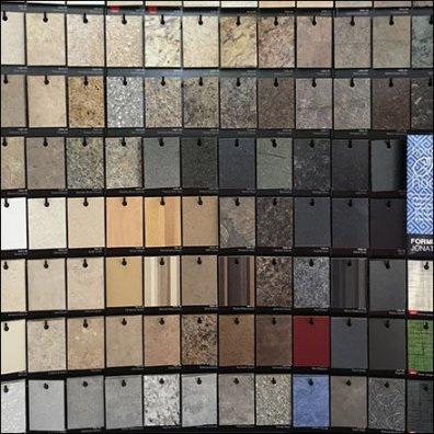 Formica Sample Board Double Display Hooked