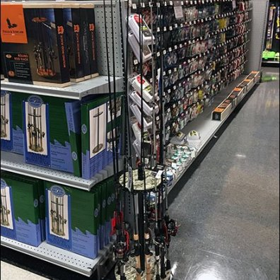 Freestanding Fishing Pole Rack in Camo Color
