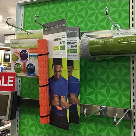Gaiam Athleisure Bar-Mount Display J-Hooks