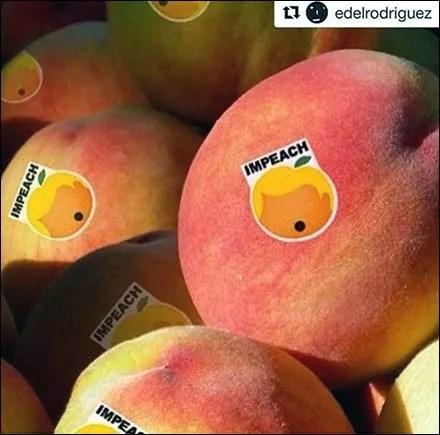 Impeach The Peach Produce Label Politics