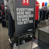Under Armour Debossed Metal Branding