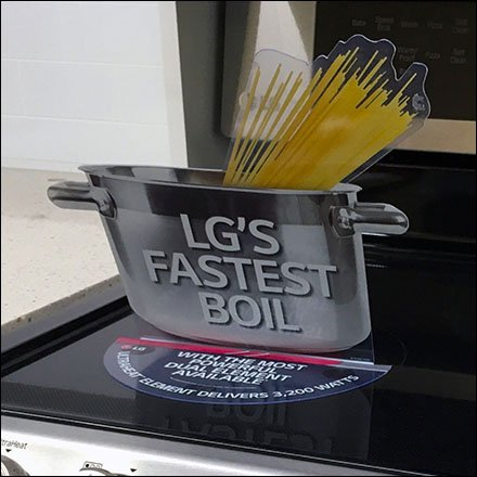 Cook Surface Display Stick-On by LG