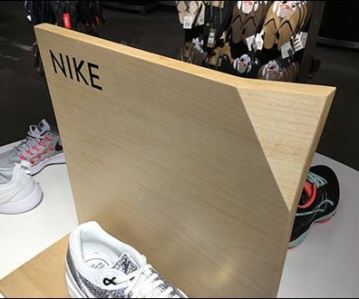 Nike Corner-Fold Sign Branding at Nordstrom