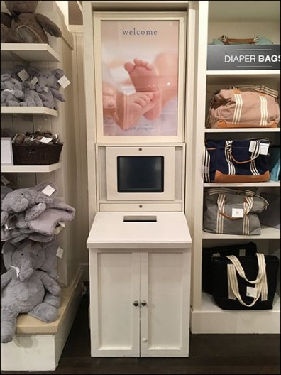 Baby and Gift Registry Ballot Box In Retail