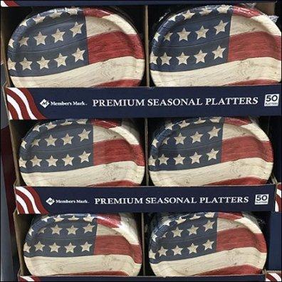 Premium Patriotic Platter Pallet Tableware Display