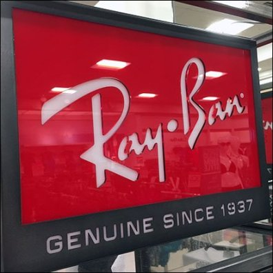 Ray Ban Branded Sunglass Tower In Red