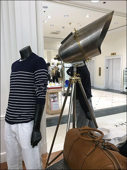 Tripod Spotlight As Theatrical Store Prop, Tripod in Retail Outfitting