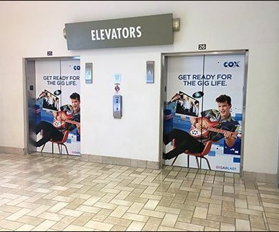 Tyson Mall Gig of A Lifetime Elevator Advertising
