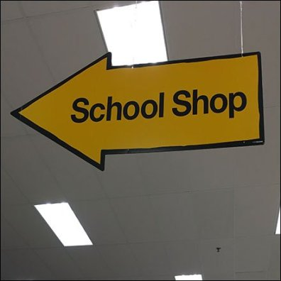 School Shop Back-To-School Sign