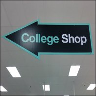Back-to-School College Shop Sign Feature