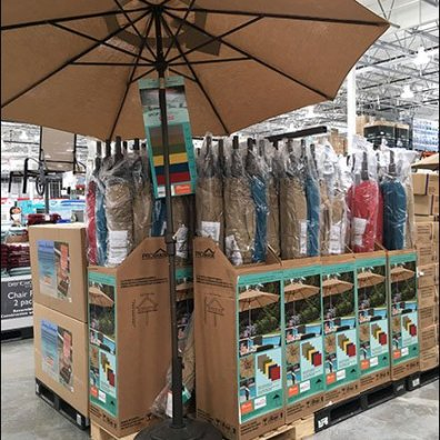 Beach Umbrella Merchandising Extravaganza
