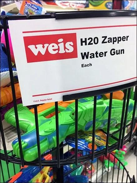 Summer Water Pistol Bulk Bin Merchandising