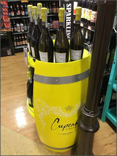 Cupcake Wine Barrel Open Sided Display 2