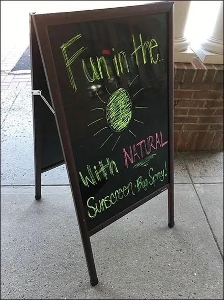 Easel Advises Fun In The Sun Naturally