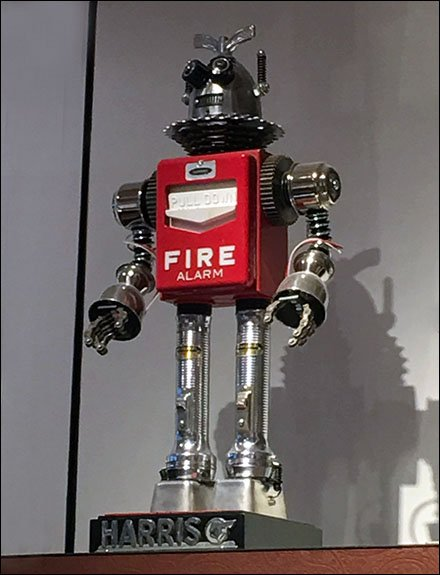 Robot Fire Alarm Prop For Retail