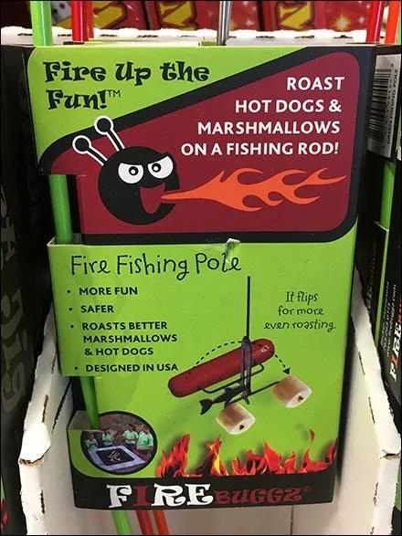 Grilling Fishing Rod Freestanding Display